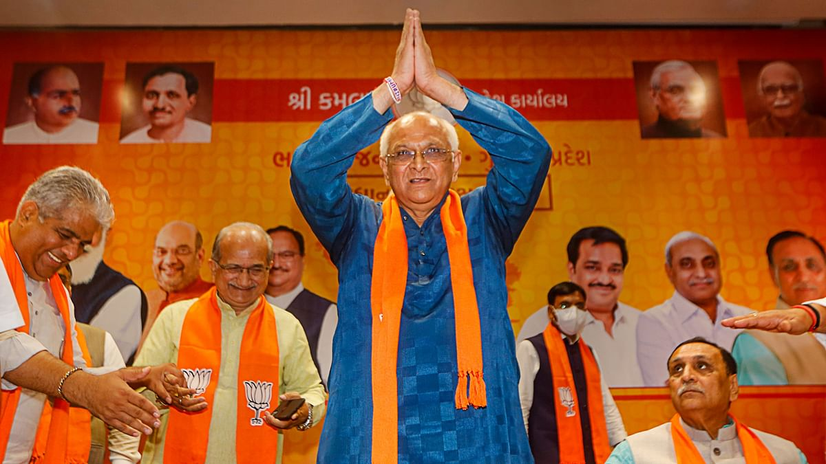 """<div class=""""paragraphs""""><p><a href=""""https://www.thequint.com/news/politics/who-is-bhupendra-patel-gujarats-next-chief-minister"""">Bhupendra Patel</a>&nbsp;was chosen as the new chief minister of Gujarat on Sunday, a day after the premature exit of  Vijay Rupani from the post.</p></div>"""