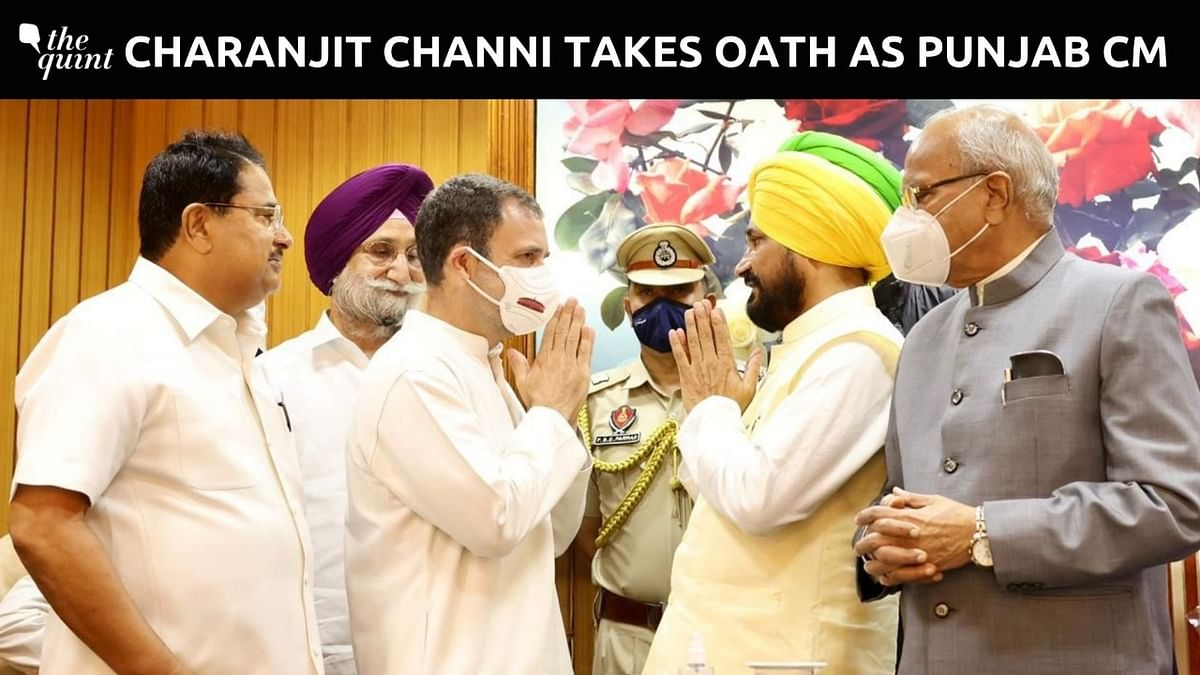 Charanjit Singh Channi Takes Oath as Punjab CM, Cabinet Meeting at 8 PM Today