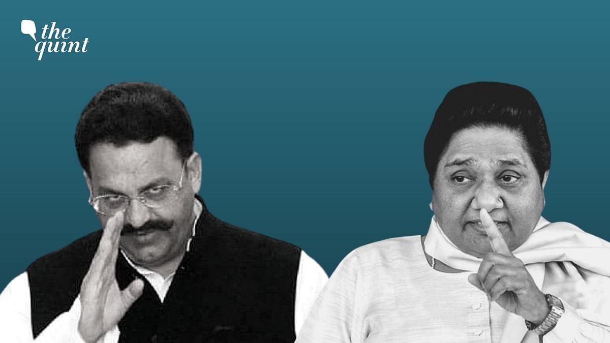 "<div class=""paragraphs""><p>BSP chief Mayawati (right) and&nbsp;<a href=""https://www.thequint.com/topic/mukhtar-ansari"">Mukhtar Ansari</a>.</p></div>"