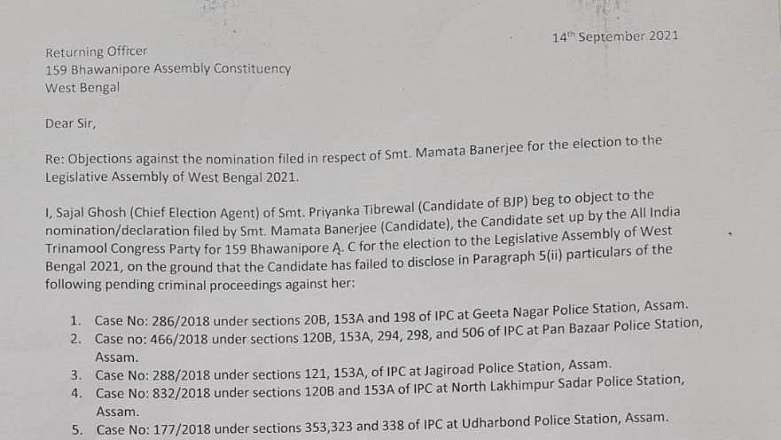 """<div class=""""paragraphs""""><p>The letter written by Sajal Ghosh to the Returning Officer.</p></div>"""