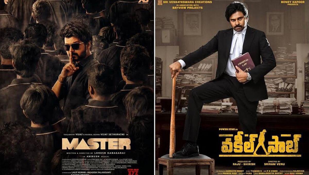 "<div class=""paragraphs""><p>Tamil action movie <em>Master</em> and Telugu language movie <em>Vakeel Saab</em>.</p></div>"