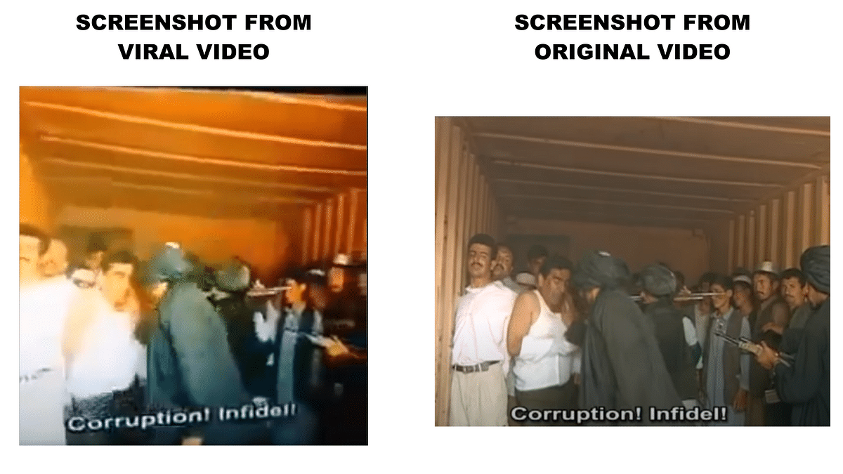 """<div class=""""paragraphs""""><p>A comparison of the viral video with screenshots from the movie.</p></div>"""