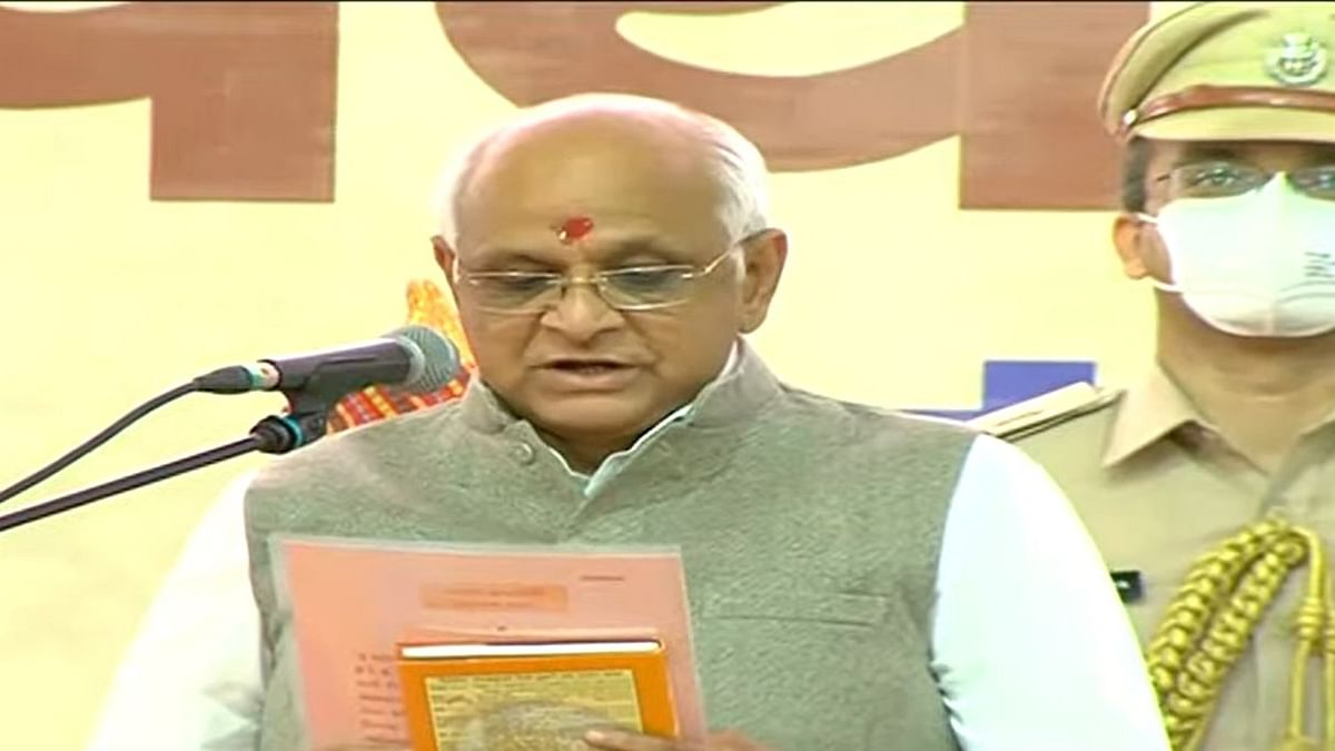 Bhupendra Patel Takes Oath as 17th Gujarat CM; HM Amit Shah Present at Ceremony