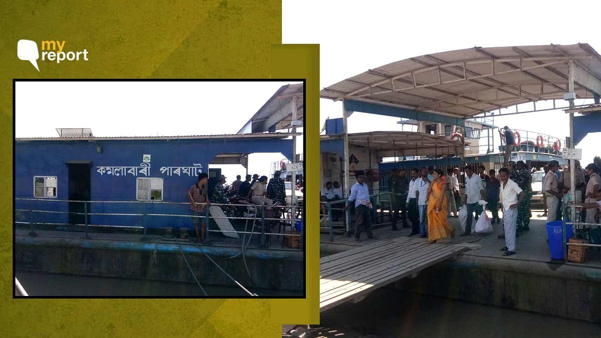 "<div class=""paragraphs""><p>Ferries waiting at the Majuli Ghat.&nbsp;</p></div>"