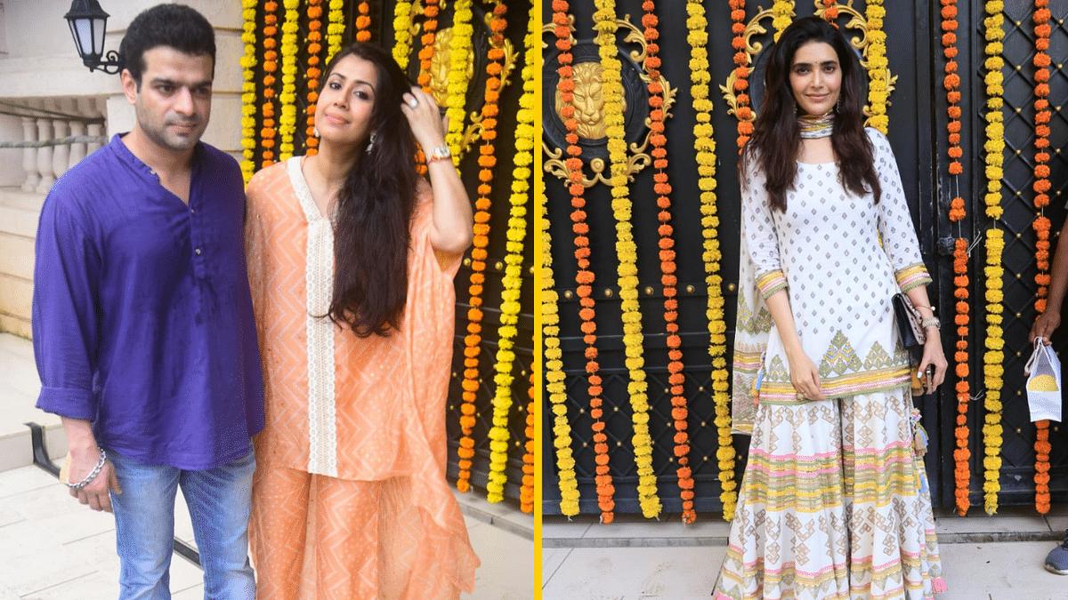 Pics: Karan Patel, Sussanne Khan & Others Visit Ekta Kapoor for Ganpati Darshan