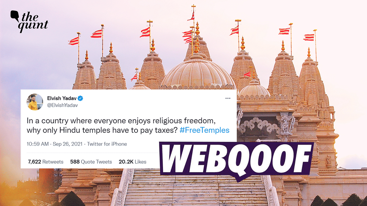Do Only Temples Have to Pay Taxes in India? No, Claim is False
