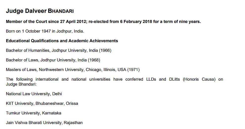 "<div class=""paragraphs""><p>Justice Bhandari has been a member of ICJ since 2012.</p></div>"
