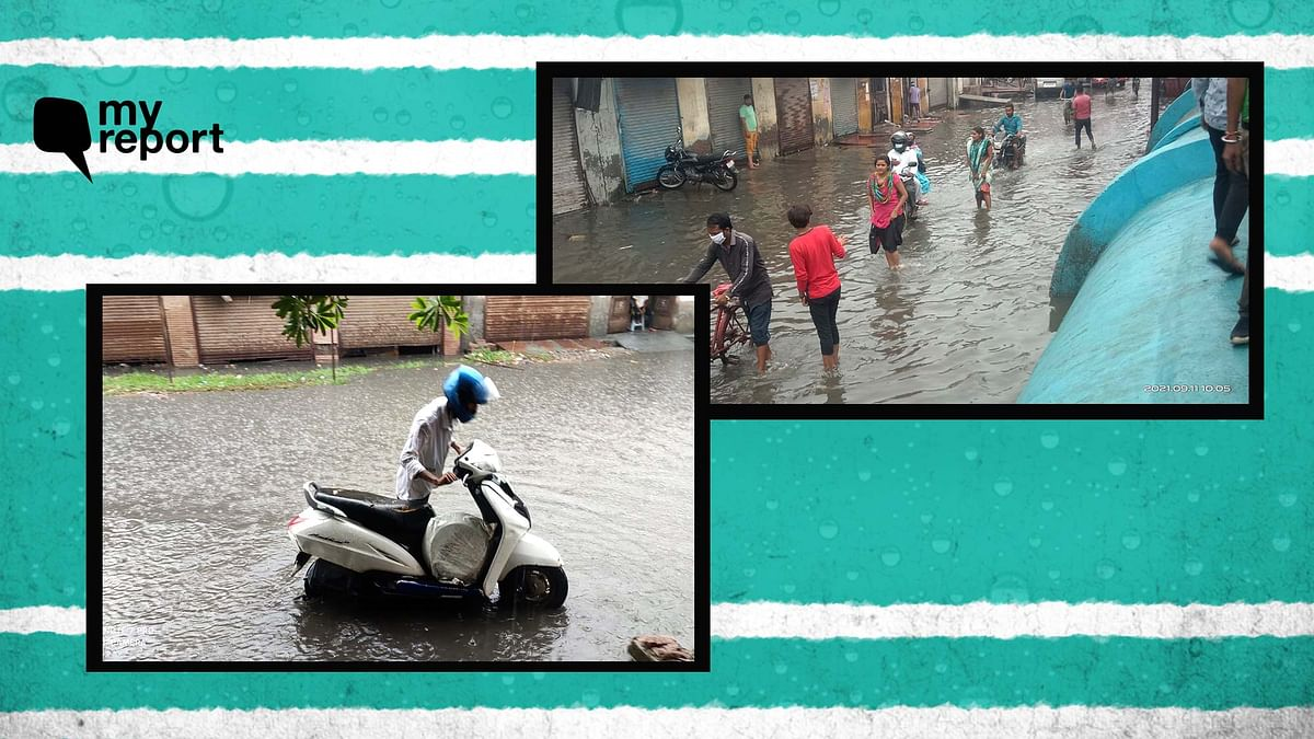 """<div class=""""paragraphs""""><p>My journey on waterlogged streets of Ghaziabad.</p></div>"""