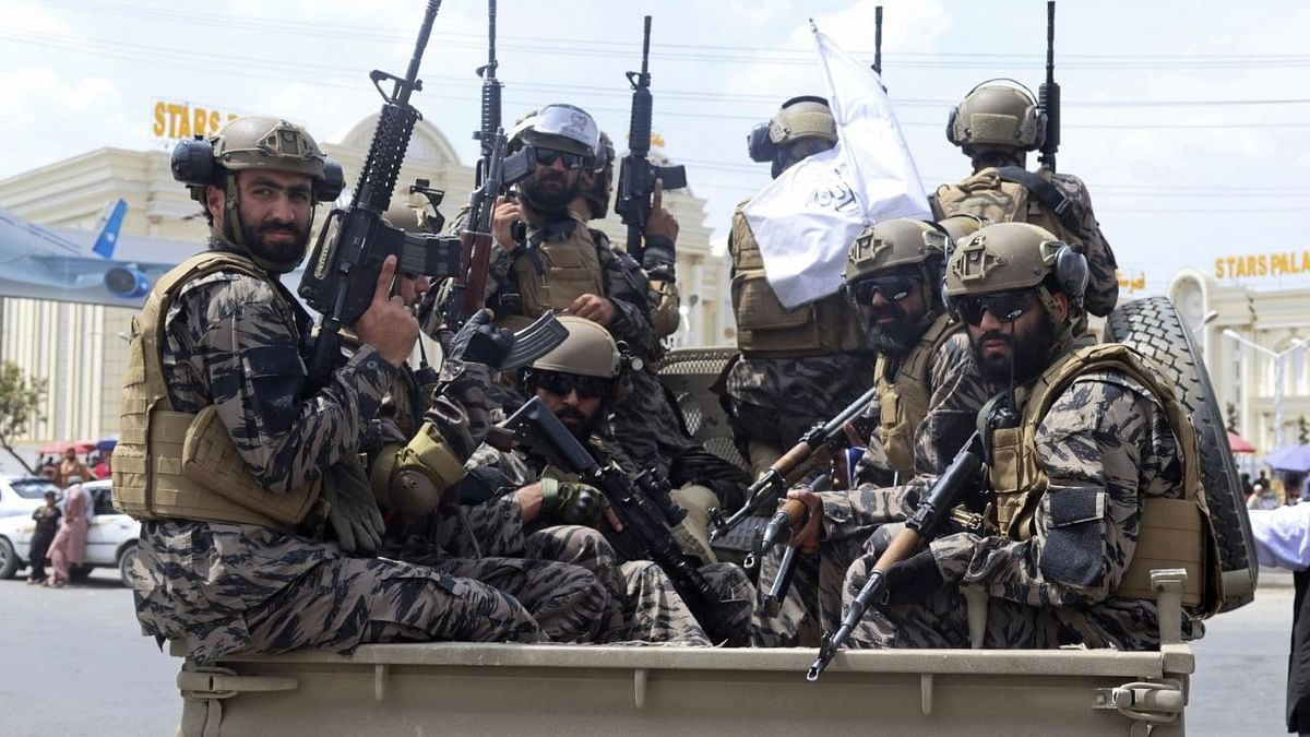 """<div class=""""paragraphs""""><p>Taliban special force fighters arrive to the Hamid Karzai International Airport after the US military withdrawal, in Kabul, Afghanistan.</p><p>Image for representation purpose.</p></div>"""