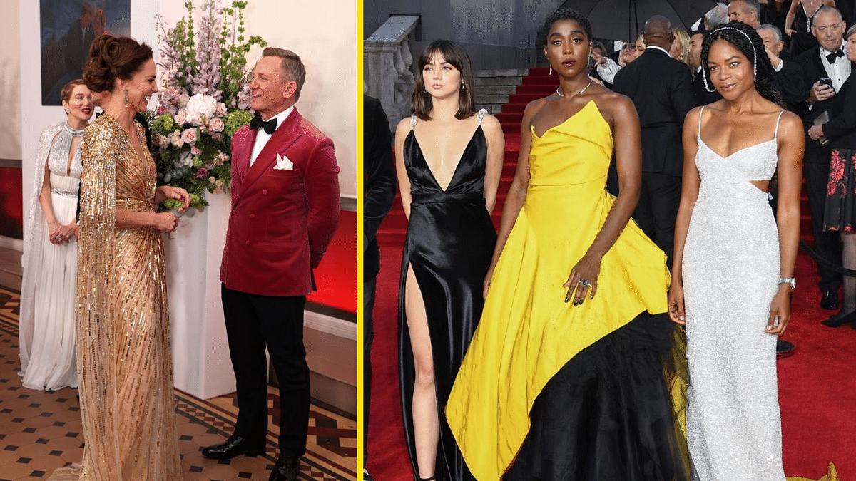 Pics: Daniel Craig, Kate Middleton, Lashana Lynch at the No Time To Die Premiere