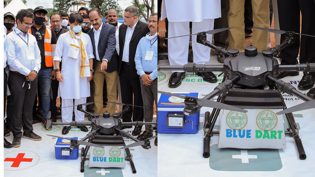 Telangana Launches Initiative To Deliver Meds, Vaccines to Remote Areas by Drone