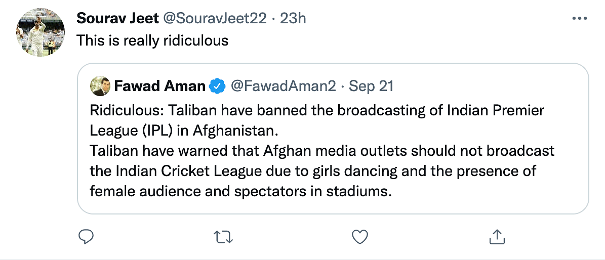 'Ridiculous, Awful': Twitter Reacts as Taliban Bans IPL Telecast in Afghanistan