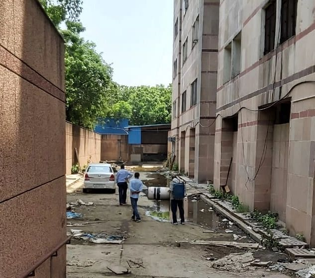 """<div class=""""paragraphs""""><p>The PSA Oxygen plant site at&nbsp;Bhagwan Mahavir hospital. The plant is yet to be installed.&nbsp;</p></div>"""