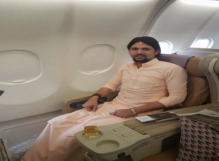 """<div class=""""paragraphs""""><p>A file picture of Anand Giri in a chartered plane&nbsp;</p></div>"""