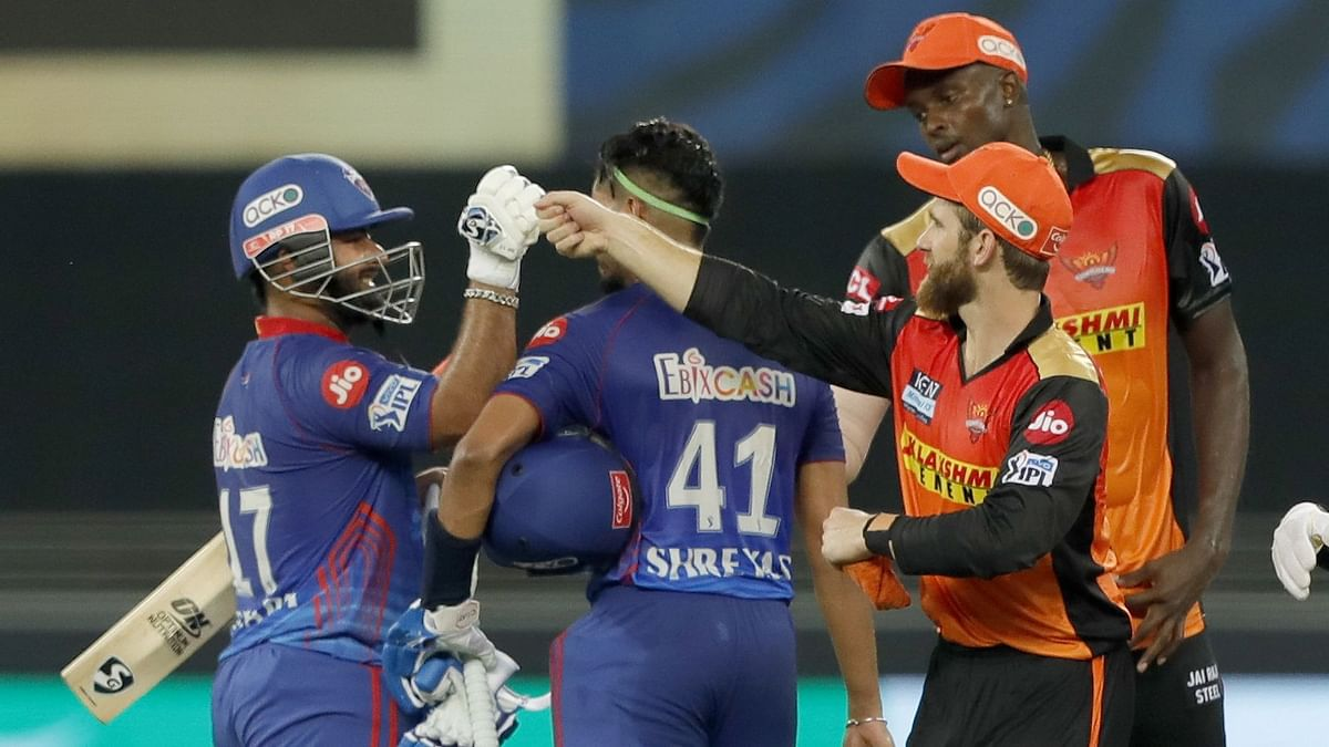 "<div class=""paragraphs""><p>Delhi Capitals beat Sunrisers Hyderabad&nbsp;by 8 wickets.</p></div><div class=""paragraphs""><p><br></p></div>"