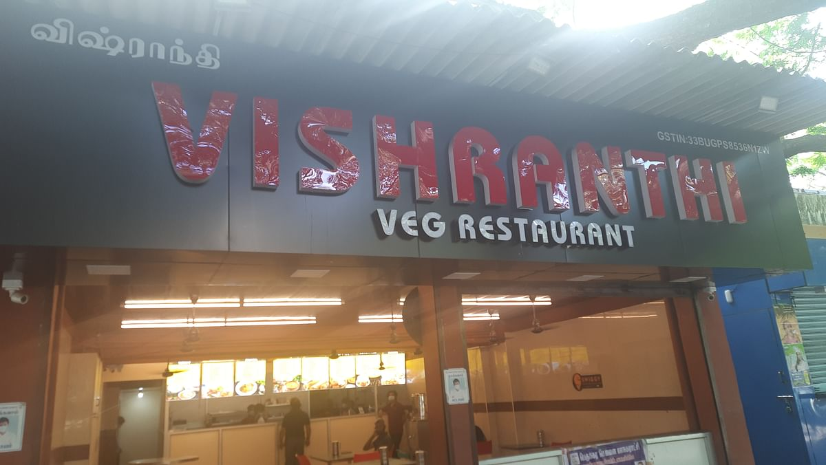 """<div class=""""paragraphs""""><p>Vishranthi is a popular breakfast place for walkers and joggers situated near the Besant Nagar beach.</p></div>"""