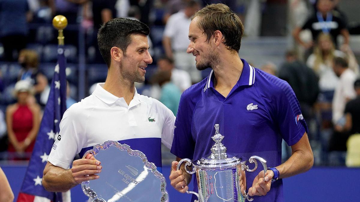 "<div class=""paragraphs""><p>Daniil Medvedev with the US Open trophy</p></div>"