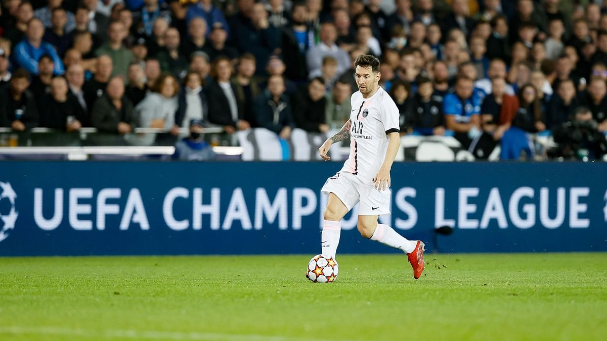 """<div class=""""paragraphs""""><p>Lionel Messi in action against Club Brugge in Champions League.</p></div>"""