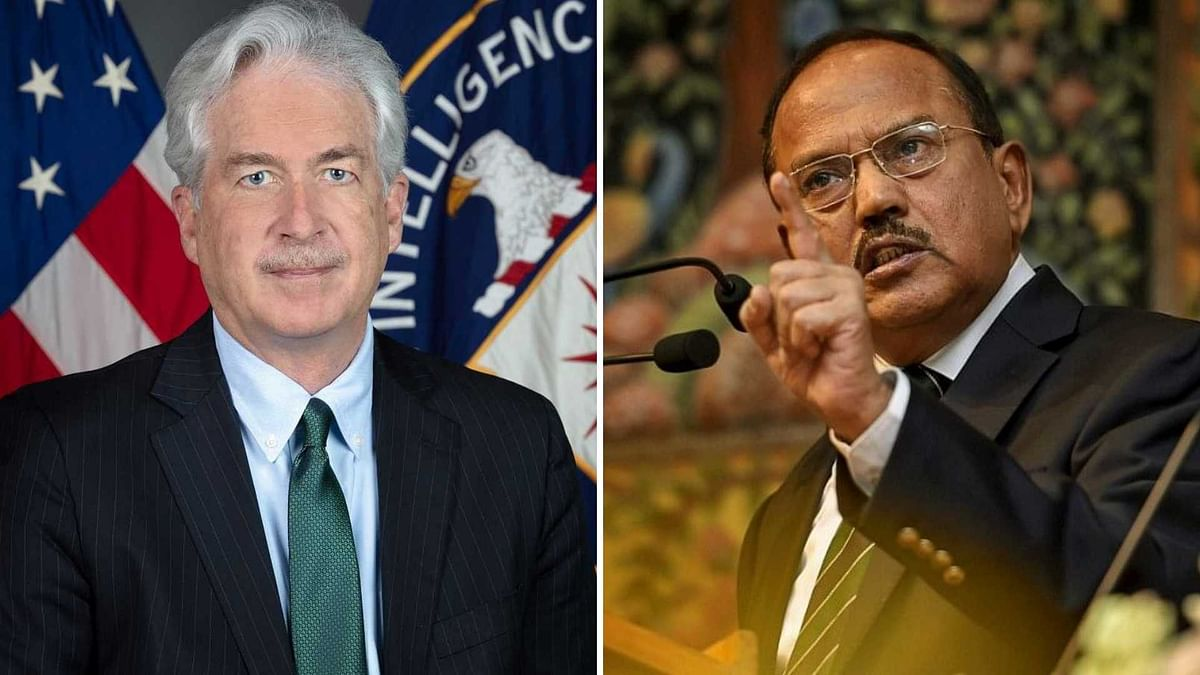"""<div class=""""paragraphs""""><p>NSA Ajit Doval and CIA director William J Burns. The two meet and discussed the Afghanistan situation, reports said.&nbsp;</p></div>"""