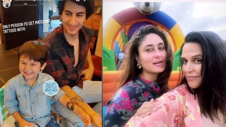 Pics: Kareena Kapoor, Taimur at Soha Ali Khan's Daughter Inaaya's Birthday Bash