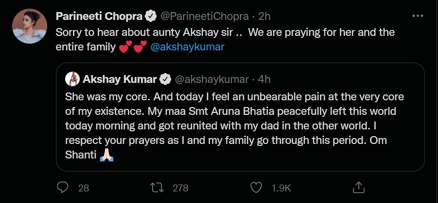 Ajay Devgn, Salman Khan & Others Condole Akshay Kumar's Mother's Demise