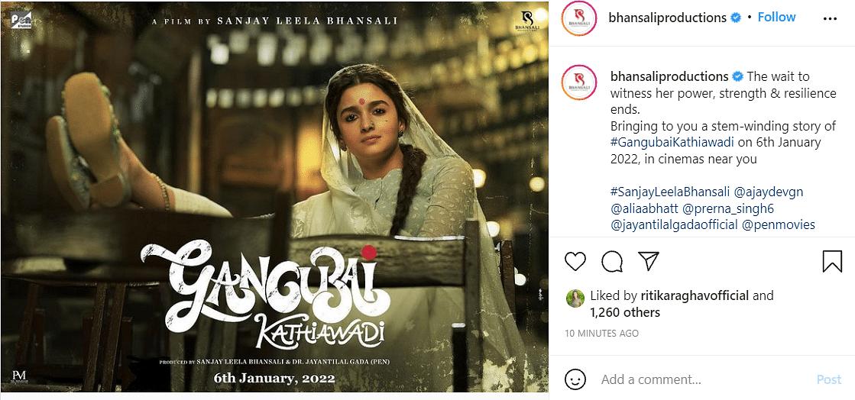 Sanjay Leela Bhansali's Alia Bhatt-Starrer Gangubai Kathiawadi Gets Release Date