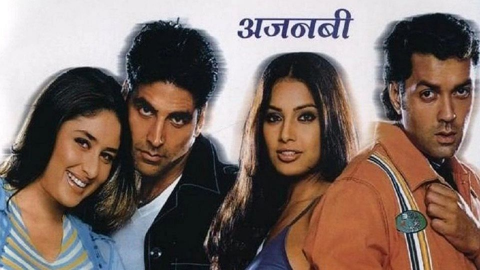 "<div class=""paragraphs""><p>Kareena Kapoor, Akshay Khan, Bipasha Basu, and Bobby Deol in the poster for&nbsp;<em>Ajnabee.</em></p></div>"