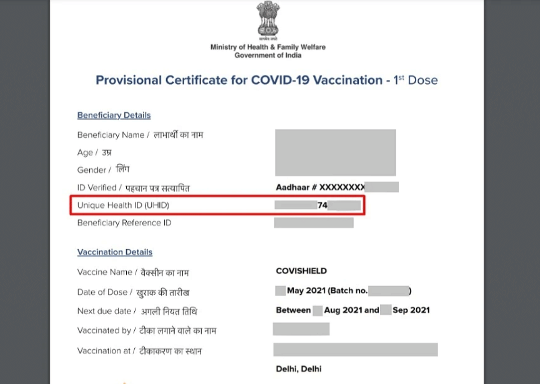 """<div class=""""paragraphs""""><p>The Centre automatically generated unique health IDs for individuals <a href=""""https://www.thequint.com/tech-and-auto/govt-created-uhid-without-consent-say-vaccinated-indians"""">who registered on Co-WIN using their Aadhaar number</a>.</p></div>"""