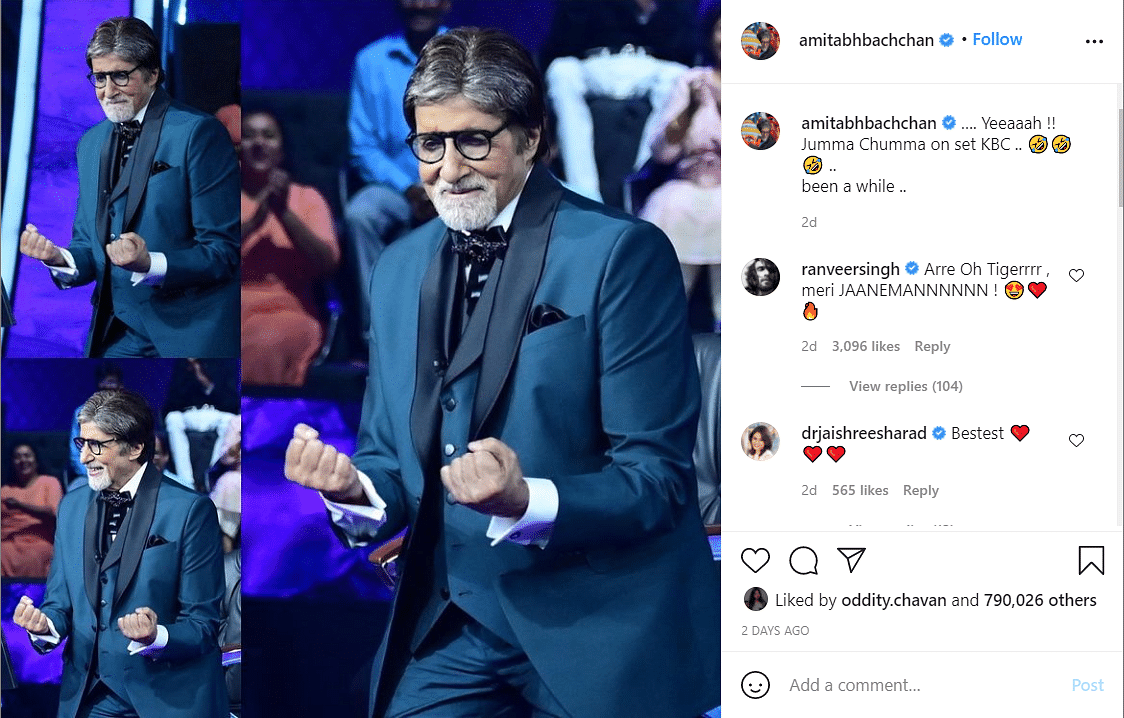 KBC 13: Jackie Shroff Finally Gets Amitabh Bachchan's Autograph But Not on Paper