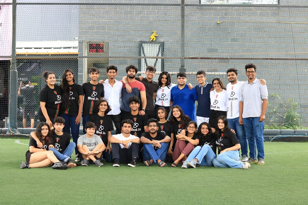 "<div class=""paragraphs""><p>Team Blod at the Football tournament&nbsp;</p></div>"