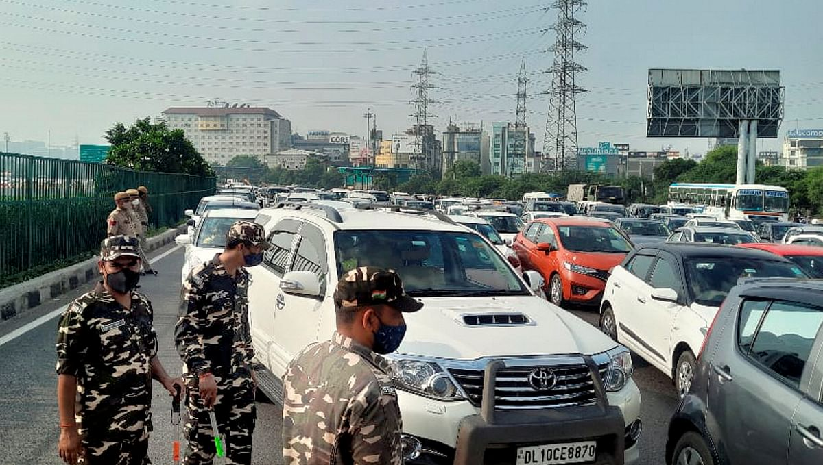 Bharat Bandh: Traffic Snarls Across Delhi-NCR; Gurugram Border Chokes