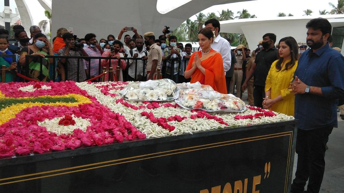 In Pics: Kangana Ranaut Pays Tribute to Former Tamil Nadu CM Jayalalithaa