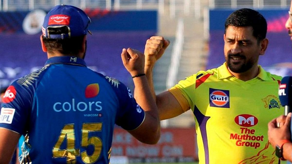 """<div class=""""paragraphs""""><p>Mumbai Indians play Chennai Super Kings in the first match of the second half of IPL 2021.</p></div>"""