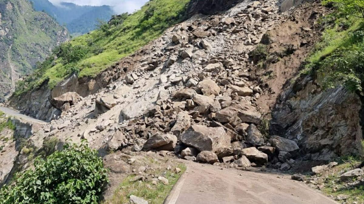 Watch: Landslide in Shimla District Blocks Key Highway, No Loss of Life Reported