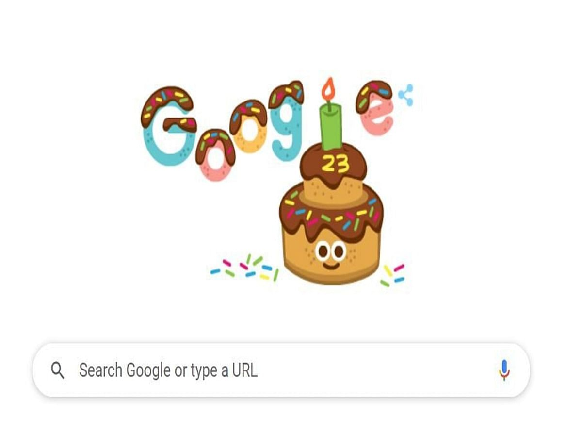 Google Celebrates Its 23rd Birthday With a Cake Doodle