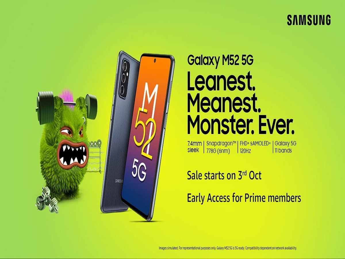 """<div class=""""paragraphs""""><p>Samsung Galaxy M52 5G is available at a starting price of Rs 26,999.</p></div>"""