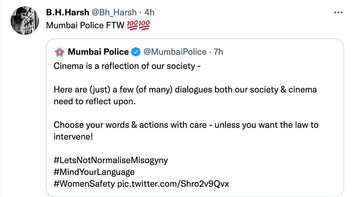 'Let's Not Normalize Misogyny': Mumbai Police's Latest Post Wins Hearts