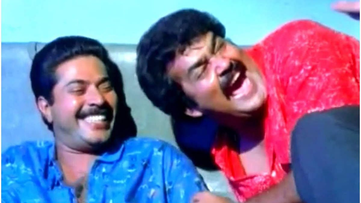 """<div class=""""paragraphs""""><p>Mammootty with Mohanlal in&nbsp;<em>Number 20 Madras Mail.</em></p></div>"""