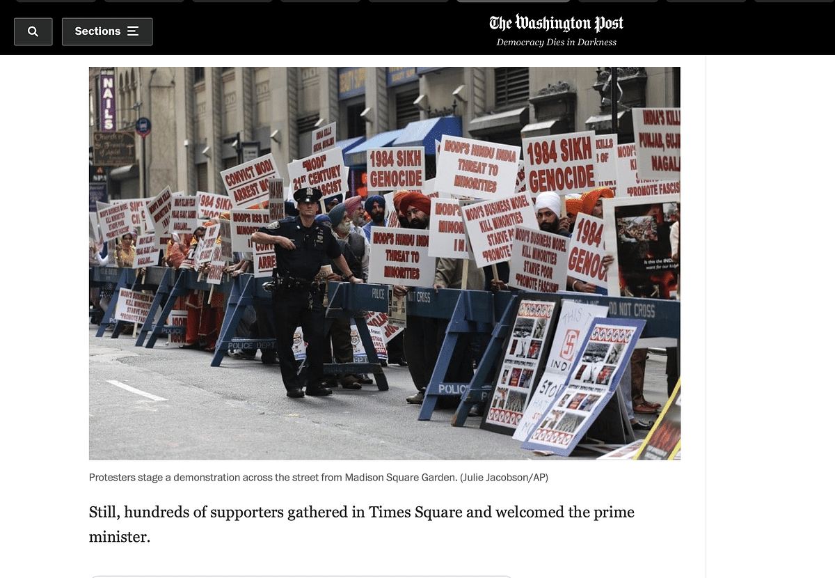 """<div class=""""paragraphs""""><p>People protested across the street from Madison Square Garden.</p></div>"""