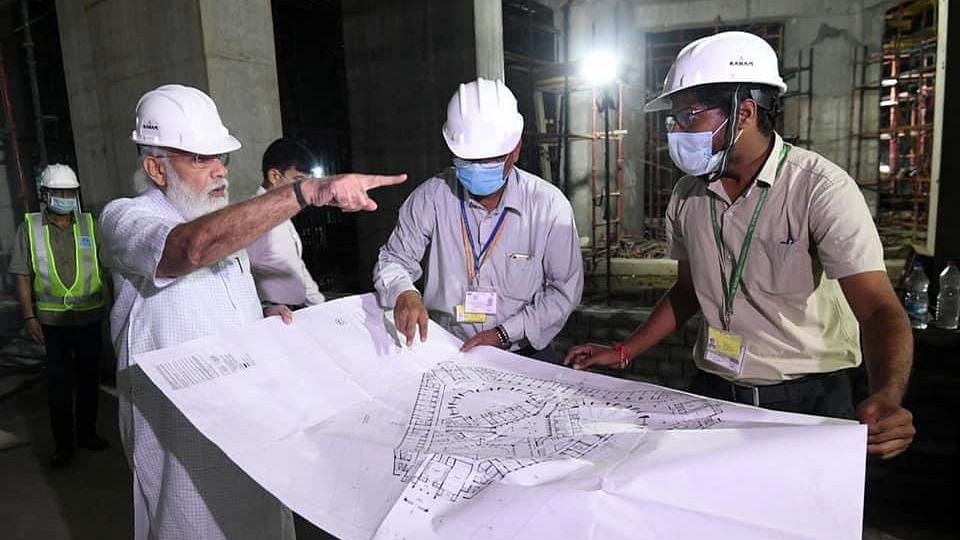 PM Modi Visits Construction Site of New Parliament Building, Inspects Work