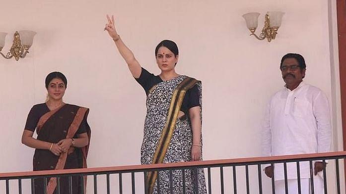 """<div class=""""paragraphs""""><p>Kangana Ranaut as J Jayalalithaa in&nbsp;<em>Thalaivii.&nbsp;</em></p></div>"""