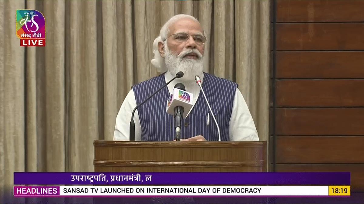 'India Mother of Democracy, It Is Jeevan Dhara': PM Modi at Sansad TV Launch