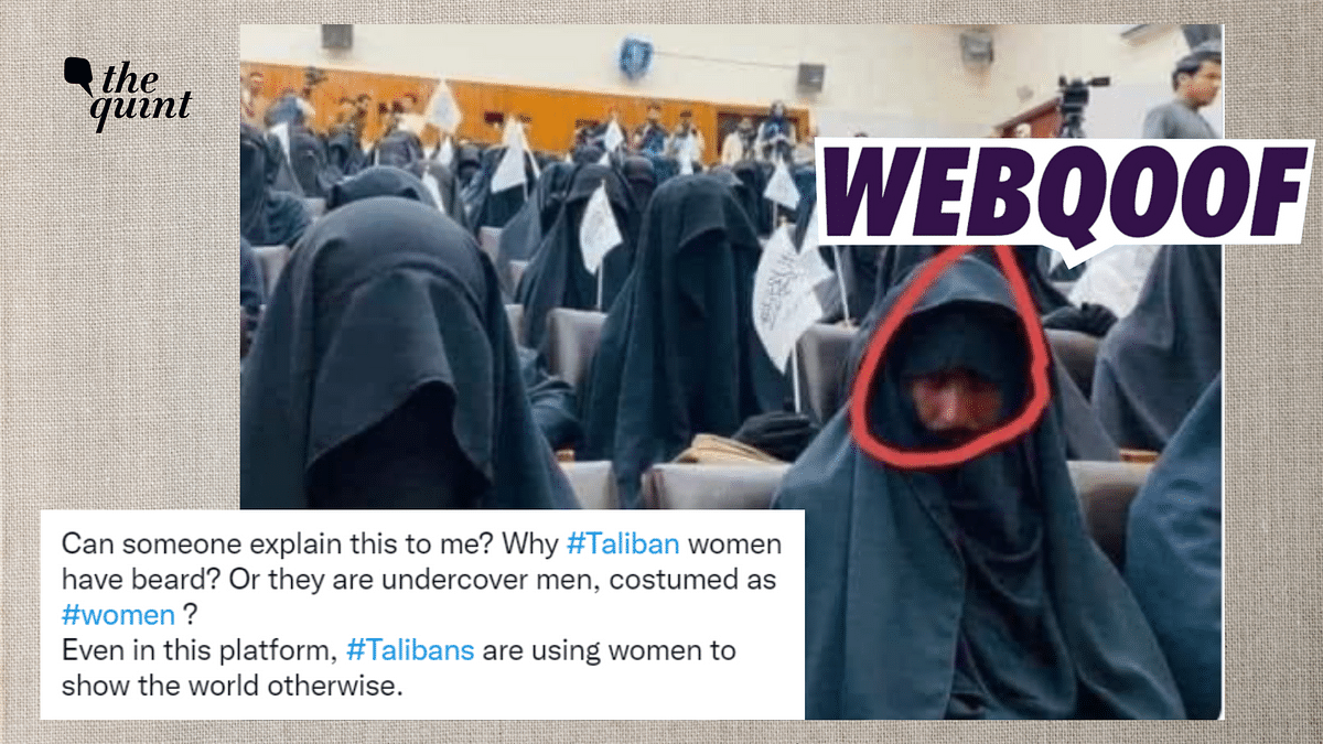 Morphed Image Shared to Claim Men Attended Pro-Taliban Gathering in Burqas