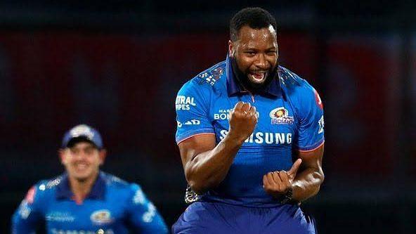 "<div class=""paragraphs""><p>Mumbai Indians' Kieron Pollard celebrates a wicket.</p></div>"