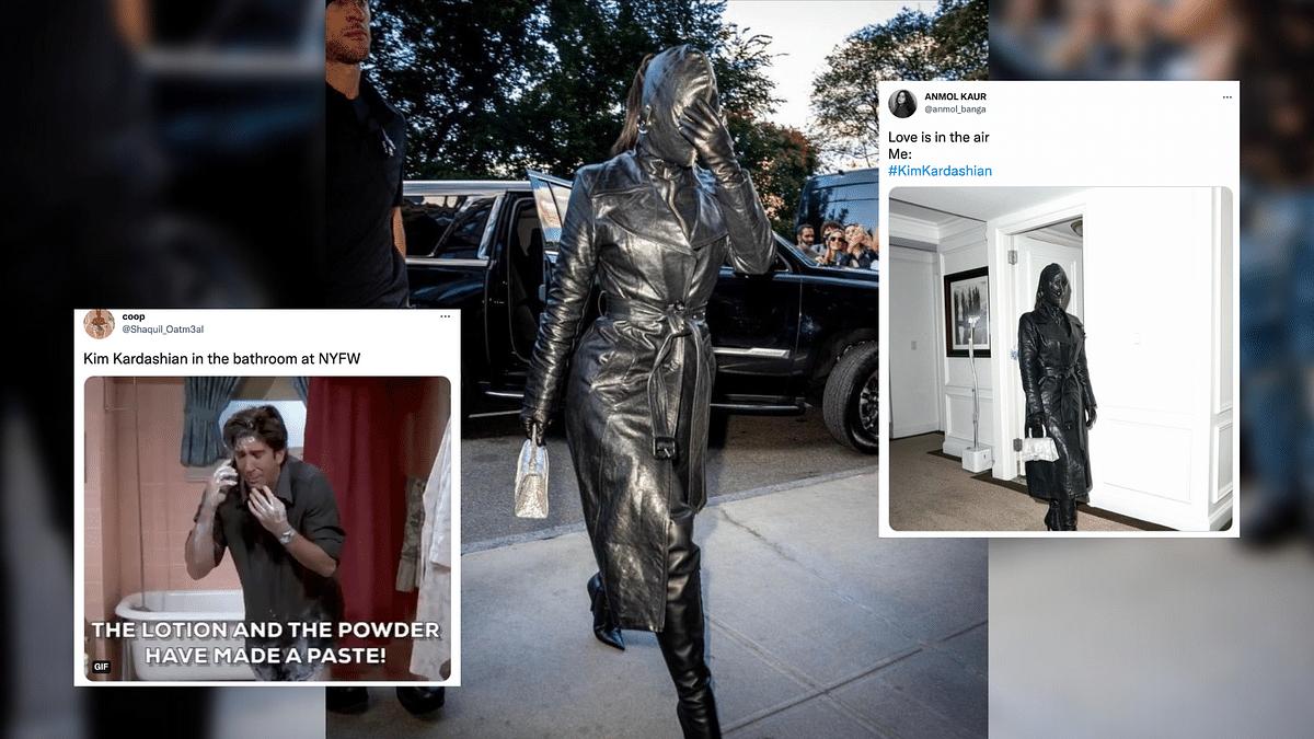 Kim Kardashian's Balenciaga Bodysuit Triggers Jokes on Twitter