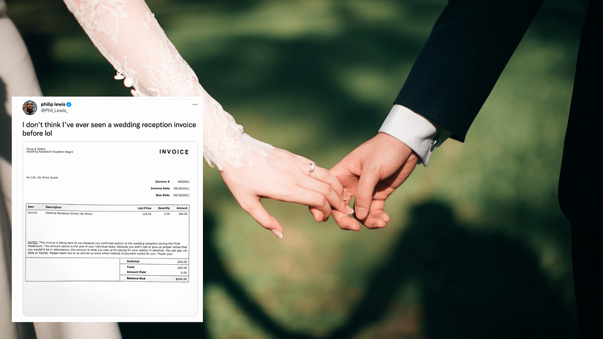 Couple Sends $240 Invoice to Guests Who Skipped Their Wedding, Post Goes Viral