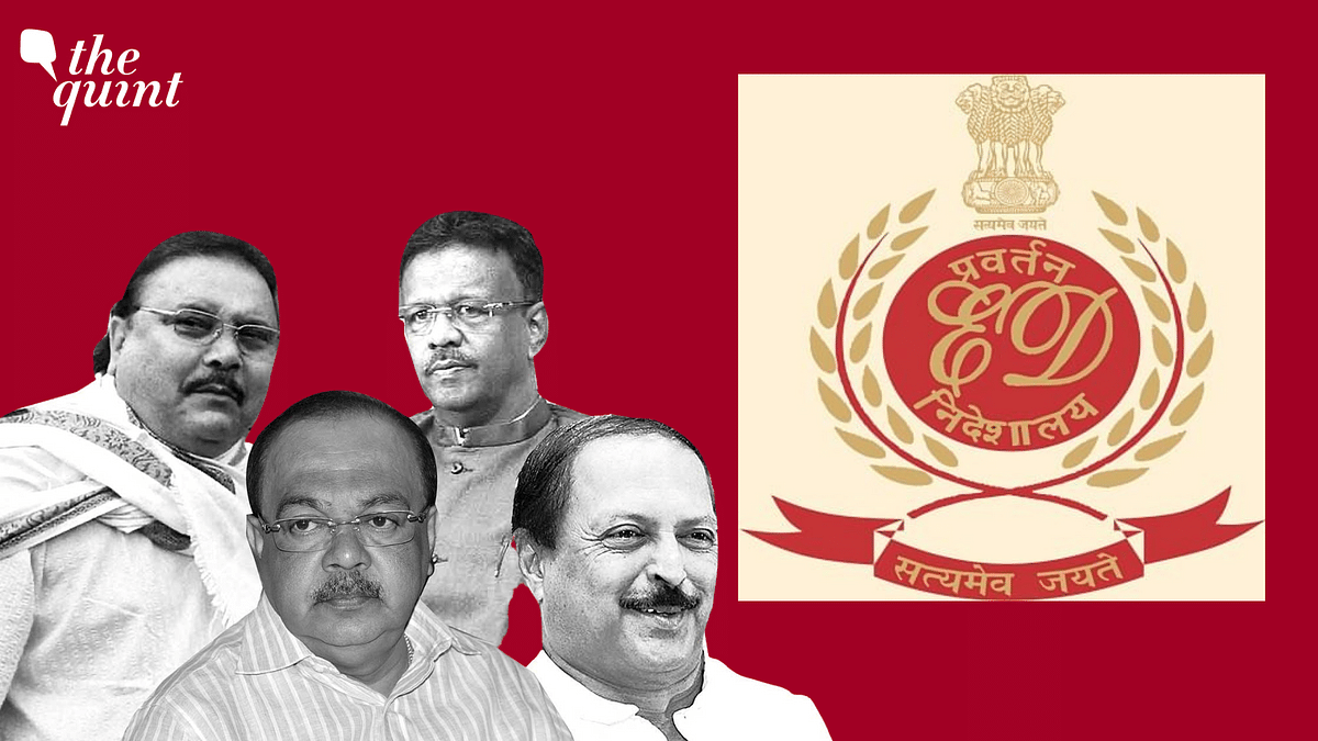 """<div class=""""paragraphs""""><p>The Enforcement Directorate listed the names of two sitting  Bengal ministers Firhad Hakim, Subrata Mukherjee, TMC MLA Madan Mitra as well as ex-Kolkata mayor Sovan Chatterjee in its charge sheet in the Narada sting operation case.</p></div>"""