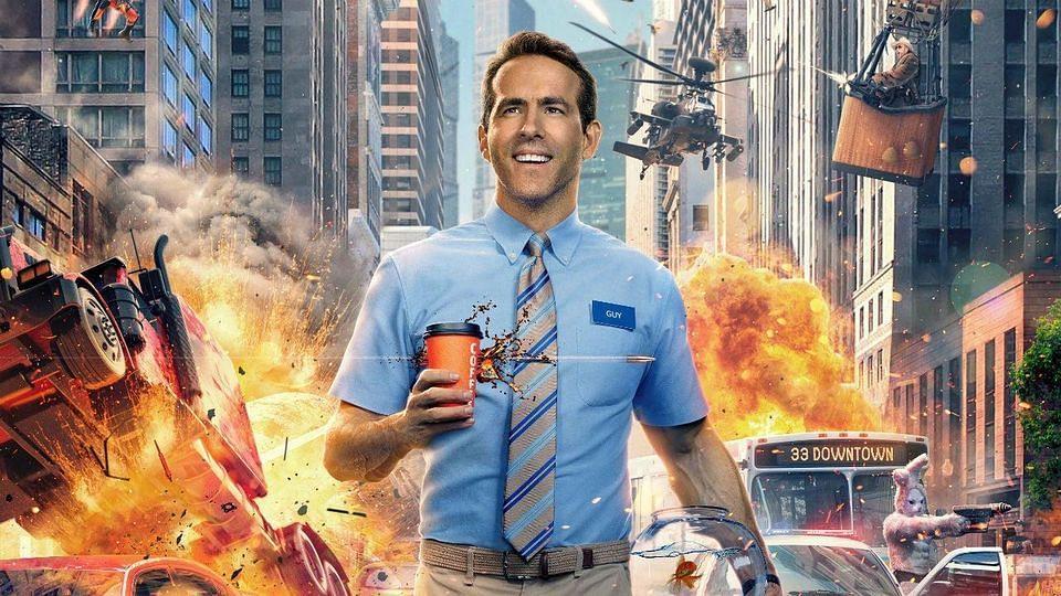 "<div class=""paragraphs""><p>Ryan Reynolds on the poster of&nbsp;<em>Free Guy.</em></p></div>"