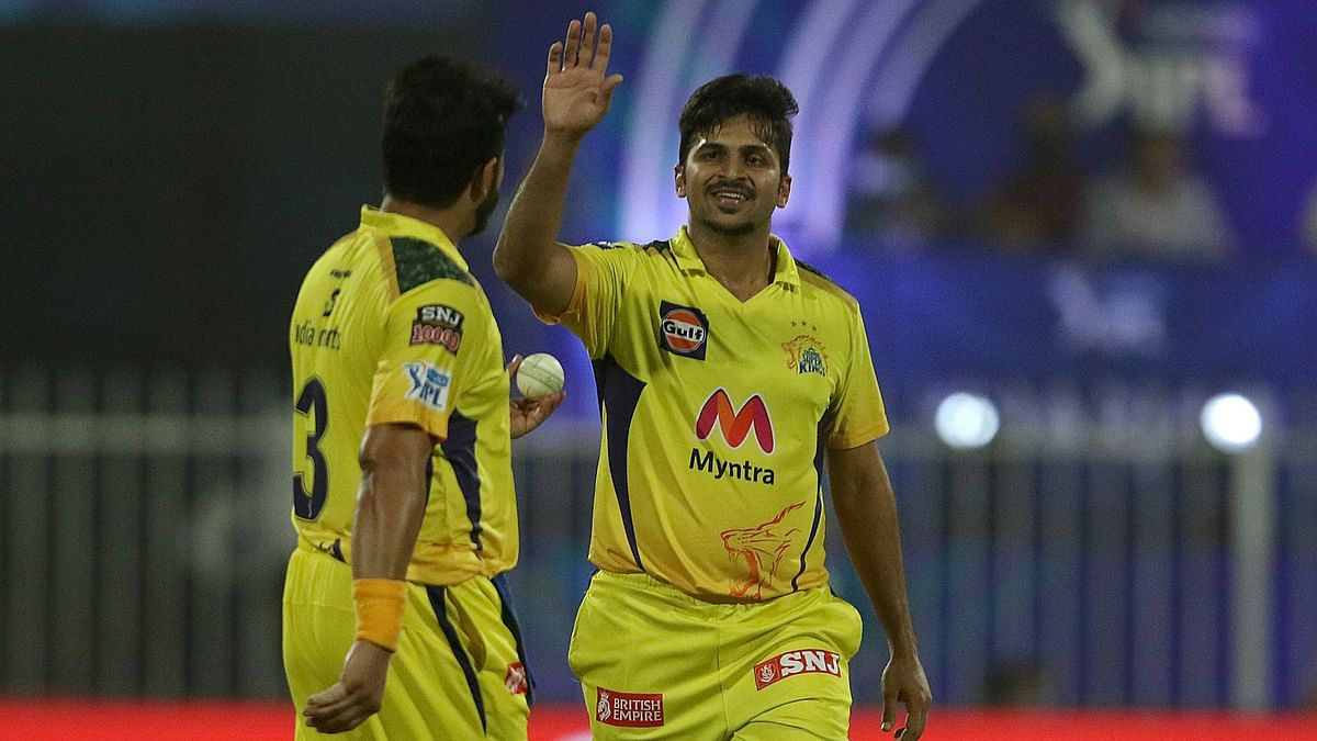 """<div class=""""paragraphs""""><p>Shardul Thakur picked 2 wickets off consecutive deliveries against RCB.&nbsp;</p></div>"""
