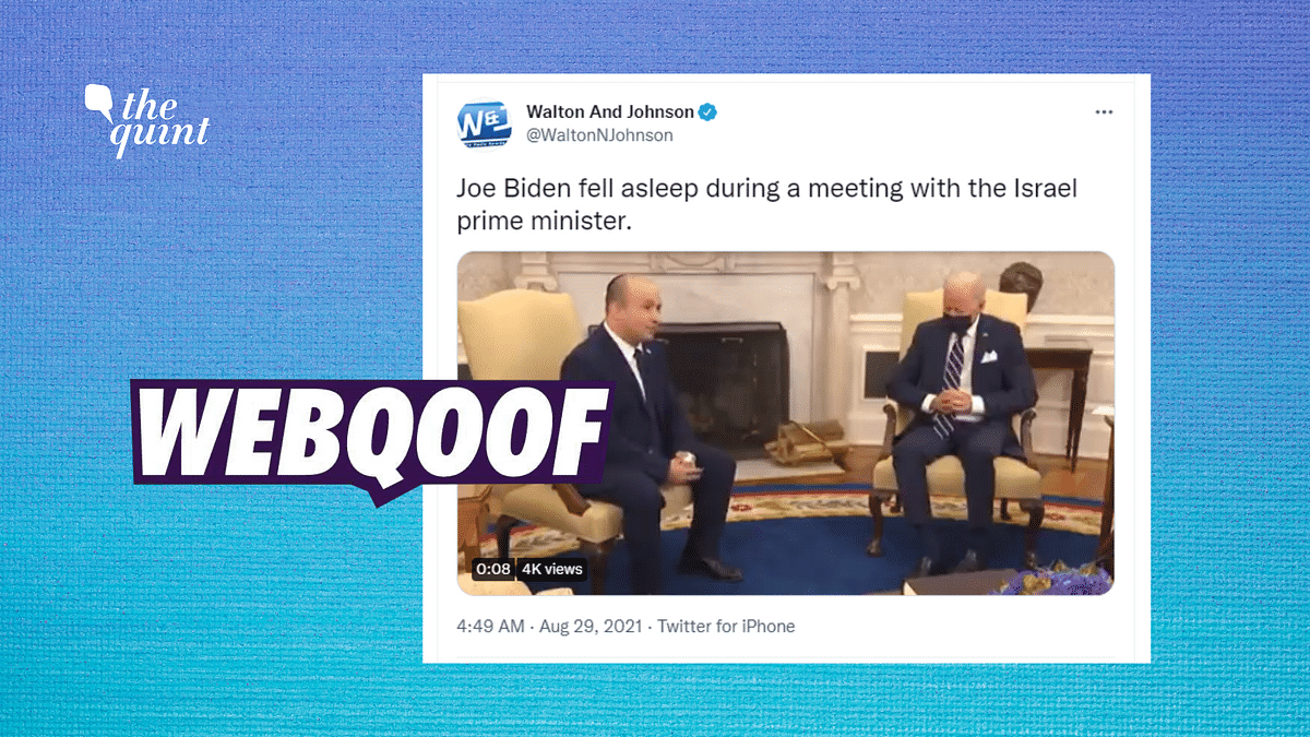 No, President Biden Was Not Asleep During a Meeting With Israel PM